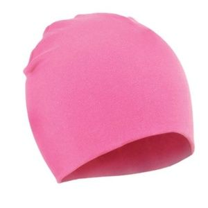 Pink beanie cap for baby 6 mo - 3 yr